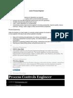 Junior Process Engineer