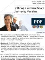 Save Taxes By Hiring a Veteran Before the Opportunity Vanishes