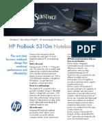 HP ProBook 5310m Datasheet