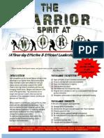 Warrior Programme-Brochure