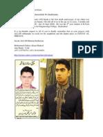 Appeal for Dua'e Maghferat (14 09 09)