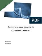 Determinismul Genetic in COMPORTAMENT