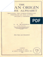 WADDELL (L.A.) - The Aryan Origins of the Alphabet (1927)