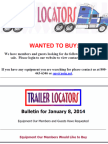 Wanted to Buy - January 8, 2014