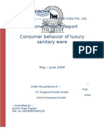 Buying behavior of consumer for sanitary products