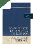 Manifiesto falangista de los 400 al pueblo español