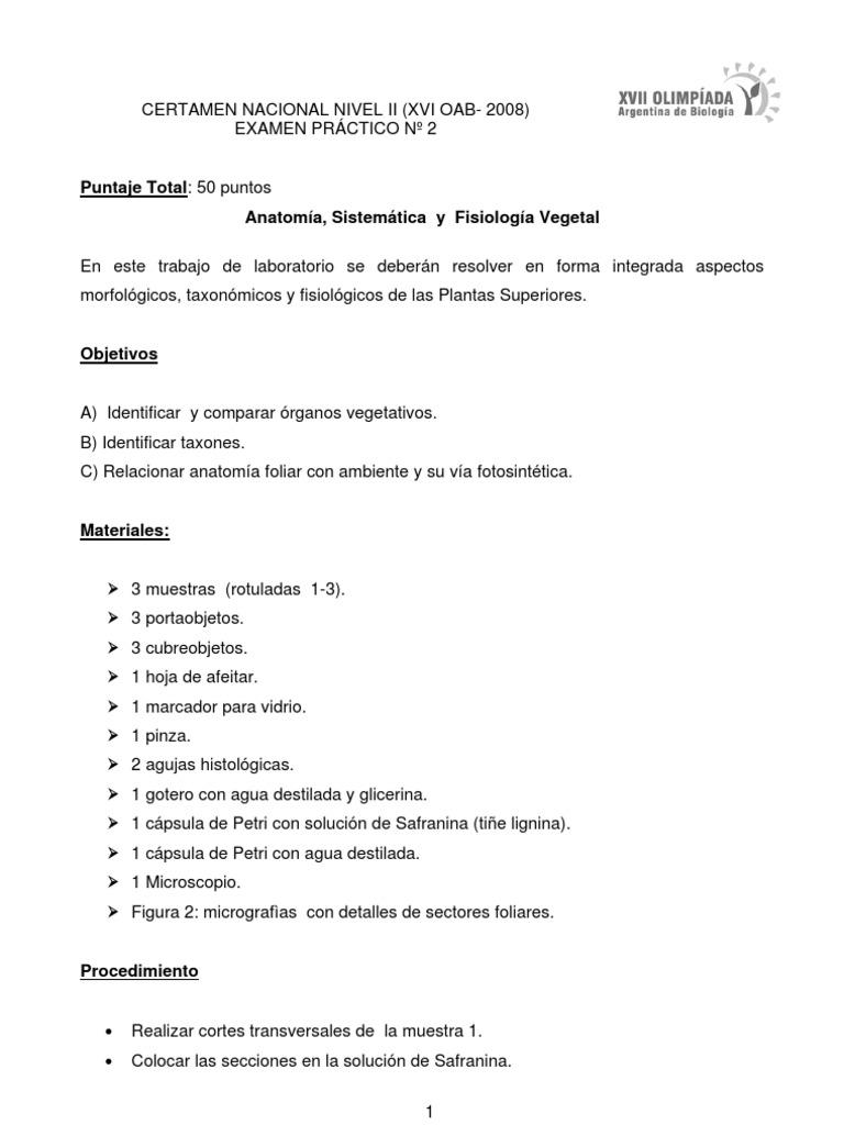 ExamenPracticoAnatFisiolVegetalconRtas