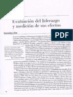 Evaluacion Del Liderazgo y Medicion de Sus Efectos