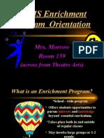 Enrichment Program Orientation 0910
