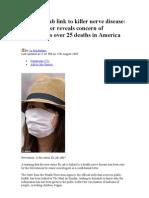 A vacina contra a Gripe Suína causa uma doença nervosa fatal