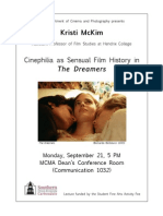 Kristi McKim presents Cinephilia as Sensual Film History in The Dreamers