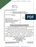 Keyes|Barnett - 63 Notice of Letter Re Rule 26f Conference - 2009-09-13
