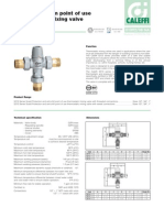 Caleffi Scald Protection Thermostatic Three-way Mixing Valve Specifications