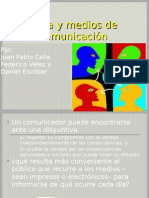 Etica y Medios de Comunicacion