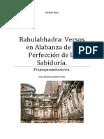 Rahulabhadra Versos en Alabanza de la Perfección de la Sabiduría
