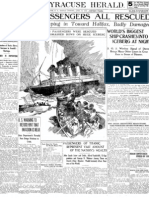 Titanic Passengers Rescued Newspaper Headline