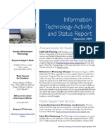 September 2009 IT Status Report