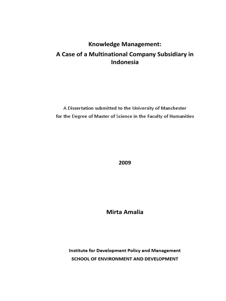 Dissertation knowledge sharing