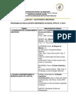 PGPP - Programa Da Prova Escrita