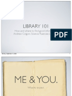 Library 101 for iSci 2009