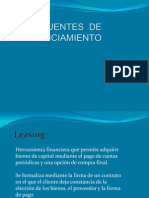 Fuentes de Financiamiento Leasing y Leaseback
