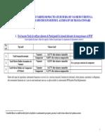 Lista Tarife Si Comisioane BVB ATS RASDAQ Unlisted de La 1 Ianuarie 2012