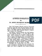 Apuntes Biograficos de d Jose Joaquin Olmedo