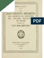 Laloy Emile Documents Secrets Par Bolcheviks