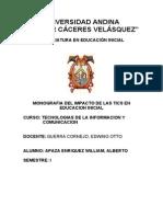 Monografia de Las Tics en Educacion Inicial- William