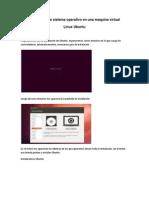 Instalación de Ubuntu en una maquina virtual