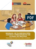 Manual de Plan de Mejora