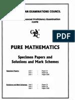 2007 CAPE Pure Mathematics U1 Specimen Paper