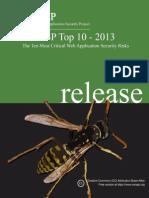 OWASP Top 10 - 2013