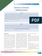 Ambulatory Anesthesia