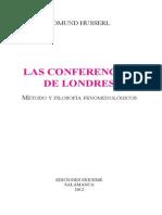 Conferencias Husserl