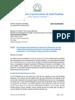 20131120-Lettre Au Ministre Blanchet
