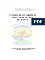 Acuerdos Convinencia Ueca Aprobados 2012 2013