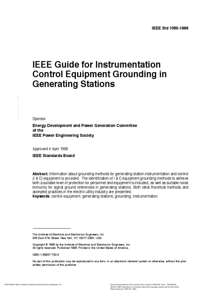 ieee std 1050 1996 guide for instrumentation control equipment rh scribd com Guide to Horse Colors and Patterns Guide Me God