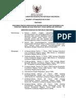 KMK No. 1479 Ttg Pedoman Peneyelenggaraan Sistem Surveilans Epidemiologi Penyakit Menular Dan Penyakit Tidak Menular Terpadu