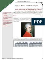 Ejemplos históricos de las Matemáticas en la Música