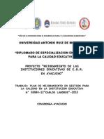 Plan de Mejoramiento i.e Covadonga