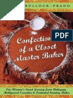 Confections of a Closet Master Baker by Gesine Bullock-Prado - Excerpt