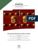 PONTES China e seus acordos regionais e preferenciais de comércio 2013