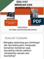 EDU 3107 Kemahiran Asas Kaunseling
