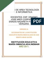 Nueva Programacion de Tecnologia 2011