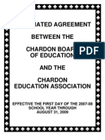 Chardon Teachers Contract 2007-2009