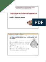 OTE II _ Aula 06 _ Estudo de Tempos