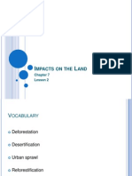 impacts on the land