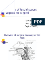Anatomy of Fascial Spaces