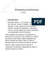 Moral Philosophy and Business
